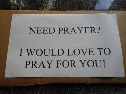 Prayer sign